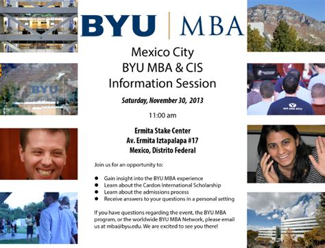 City Mba Program by Byu Marriott School Byu Mba Program And Cis Mexico