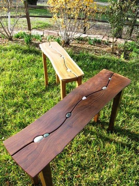 stone wood bench top 25 best river stones ideas on pinterest
