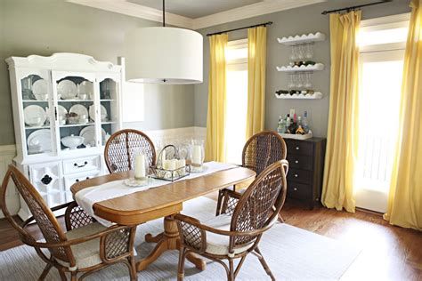 Yellow Dining Room Curtains Ideas Going For The Gold More Dining Room Curtains Ideas