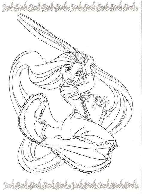 princess hair coloring pages 78 best disney raiponce images on pinterest tangled