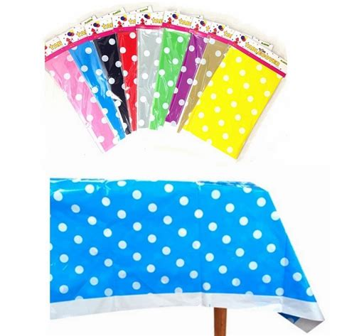 Tablecloths For Baby Shower by Aliexpress Buy Polk Dot Plastic Tablecloth