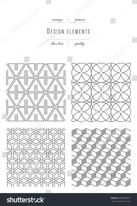pattern variables deutsch vintage set patterns thin line variable stock vector