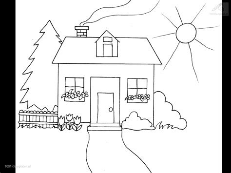 in the garden coloring book books kleurplaat huis