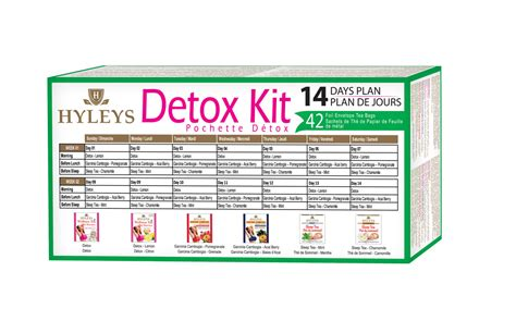 One Day Detox Kit by Hyleys 14 Day Detox Kit Hyleys Tea