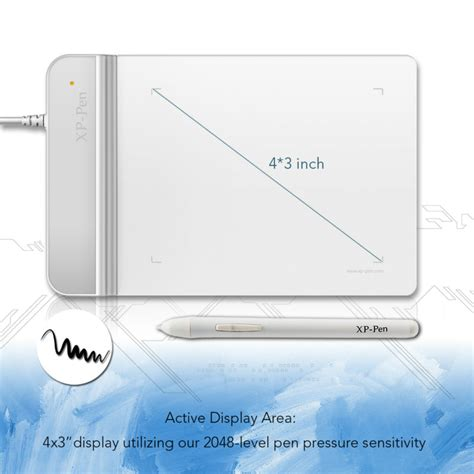 Xp Pen G430 Graphic Tablet For Drawing And Osu White the xp pen g430 4 x 3 inch ultrathin graphic drawing