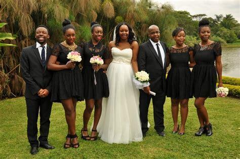 Custom made bridesmaids dresses for a Kenyan wedding