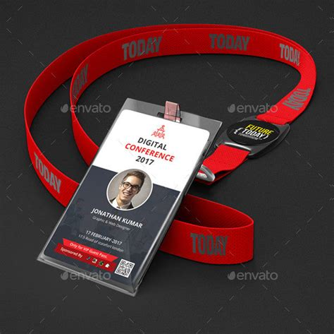conference id card template 29 customizable id card templates free premium