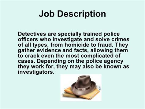 Detectives Description by Crime Investigator Ppt
