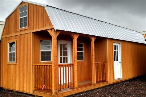 Side Lofted Barn Cabin by Metal Shed Homes Metal Shed With Foundation Metal Shed