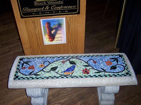 mosaic garden bench mosaic garden bench gardening pinterest