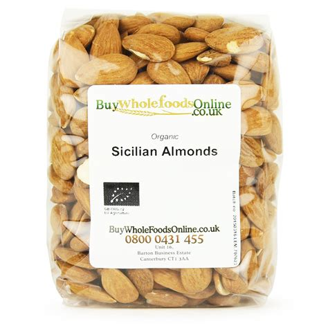 Whole Almond 1kg organic sicilian almonds 1kg buy whole foods
