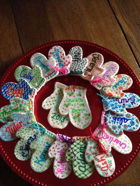keepsake wreath   salt dough sharpies  modge