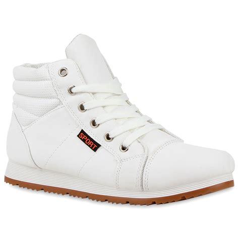 Outdoor Schuhe Damen by Damen Sneakers High Outdoor Schuhe Profilsohle Lederoptik