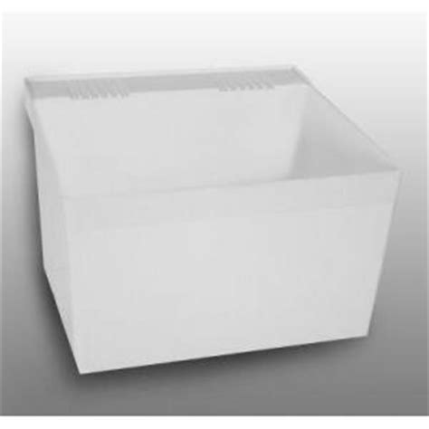 23 in x 21 1 2 in laundry tub white l1100 the home depot