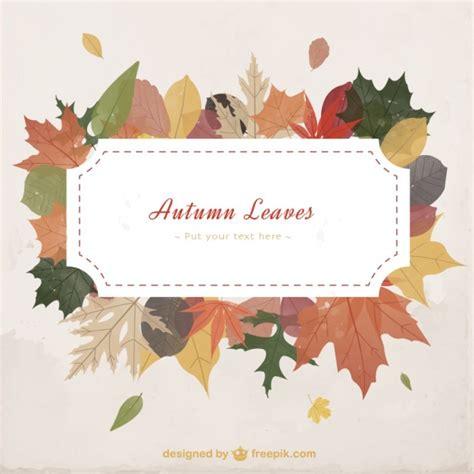 autumn leaves template vector premium download