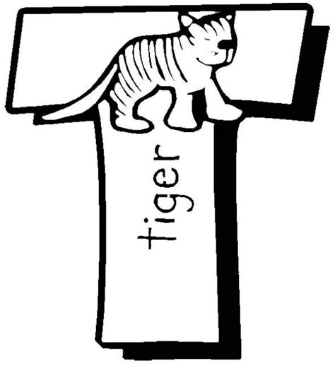 tiger t coloring page t for tiger coloring pages kids coloring pages pinterest