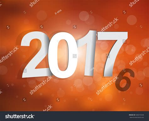 new year represents 20162017 change represents new year 2017 stock vector