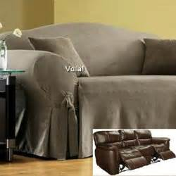 Sofa Recliner Covers Reclining Sofa Slipcover Grey Suede Gray Cover Adapted For Dual Recliner Slipcover 4