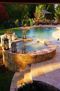 beautiful backyard pool hot tub outdoor pool pinterest