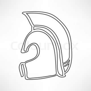 ancient helmet template ancient helmet icon isolated vector colourbox