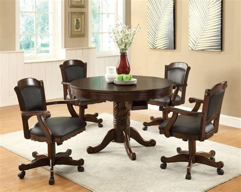 game table chairs with casters furniture outlet bumper pool poker table dining table