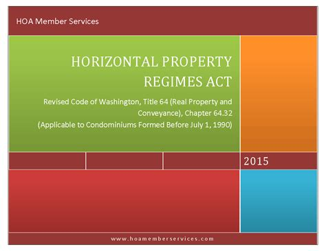 Washington State Property Records Search Washington State Statutes Title 64 Chapter 64 32 Horizontal Property Regimes Hoa