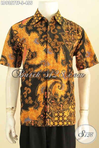desain baju batik kekinian hem batik tulis keren desain kekinian lengan pendek motif