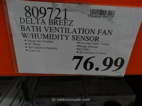 costco bathroom fan costco bathroom fan delta breez humidity sensing bath ventilation fan