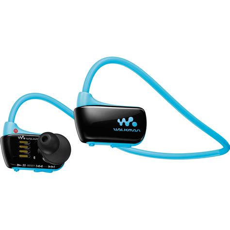 Earphone Sony Walkman sony 4gb w series walkman sports mp3 player blue nwzw273sblue