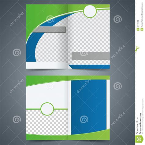 brochure layout eps empty bifold brochure template design with green c stock