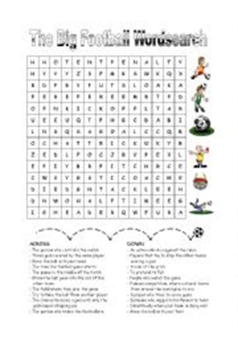 printable word search football teams english worksheet the big football wordsearch