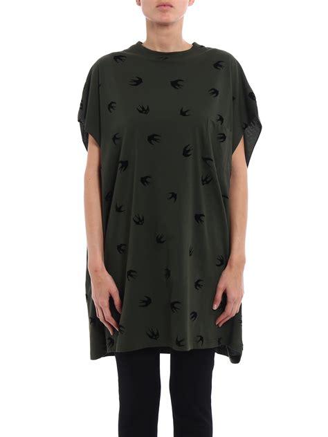 oversized shirt pattern swallow pattern oversized t shirt by mcq t shirts ikrix