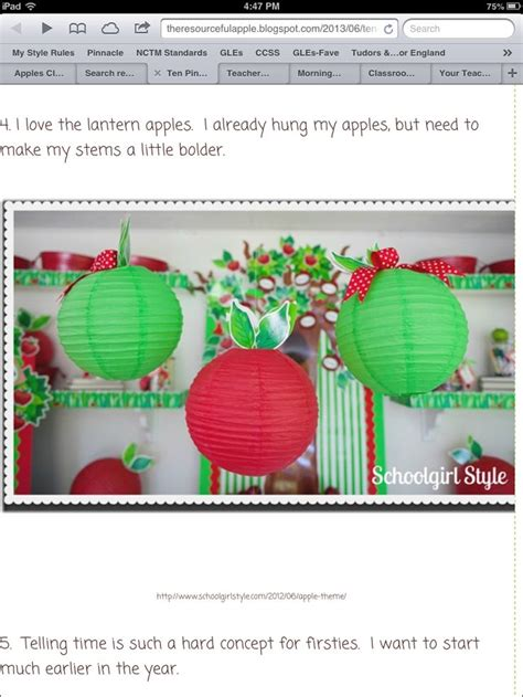 Apple Classroom Decorations by Apple Classroom Decor Awesome Ideas