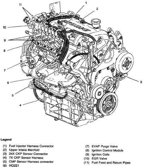 6 best images of car engine diagram side view v8 engine