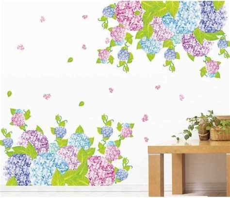 Sticker Kaca Purple jual romatic purple flower am7024 stiker dinding wall