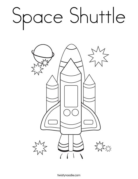 space shuttle coloring page twisty noodle