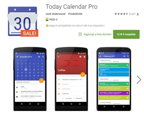 Today Calendar Pro Today Calendar Pro In Offerta A 0 10 Batista70phone
