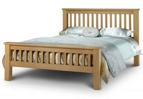 Oak Bed Frames Uk Julian Bowen Amsterdam Oak Shaker Style Bed Frames Kingsize Packages With Deluxe
