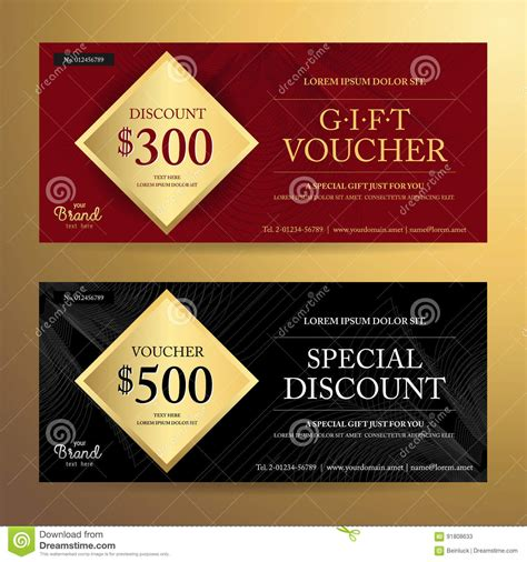 elegant gift voucher or discount card template with