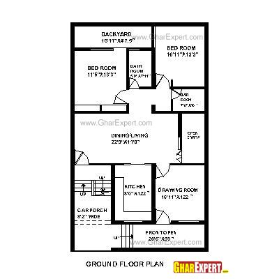 50 yard home design house plan for 30 feet by 50 feet plot plot size 167
