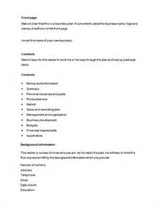 How To Write A Business Plan Template Free by Business Template 38 Free Word Pdf Documents