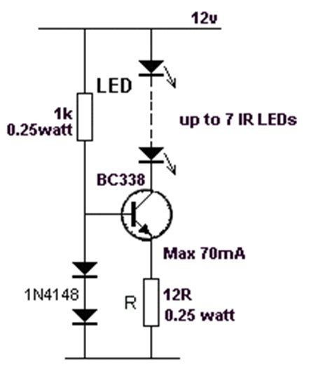 ir led operation 1 200 transistor circuits