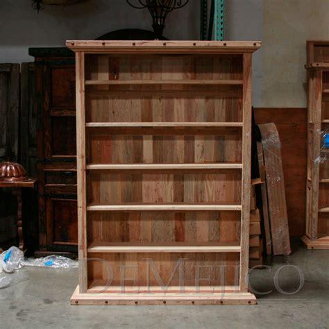 single alamo pine wood bookcase demejico