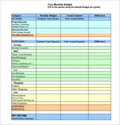 templates for budgets monthly monthly budget template 10 free documents in