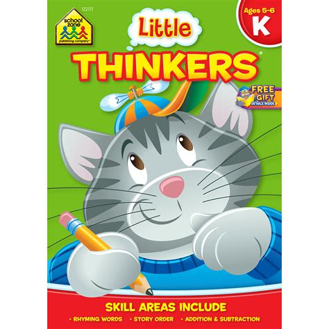 School Zone Kindergarten Stickers And More Workbook thinkers kindergarten workbook school zone