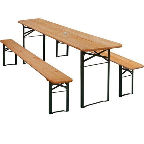 wooden garden bench sets wooden folding beer table 3pcs bench set wood metal