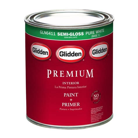 glidden premium 1 qt semi gloss light colors exterior base paint gl6811 04 the home depot