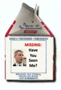 kurt bills missing ad on milk carton wry wing