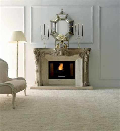 Apartments Design by Stone Electric Fireplaces Design With Art And Classic Style