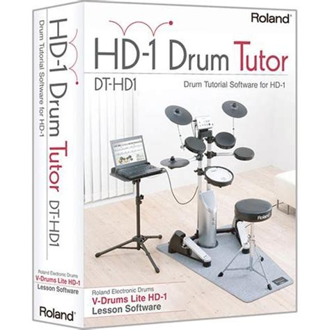 drum tutorial books roland drum tutorial software for hd 1 dt hd1 b h photo video